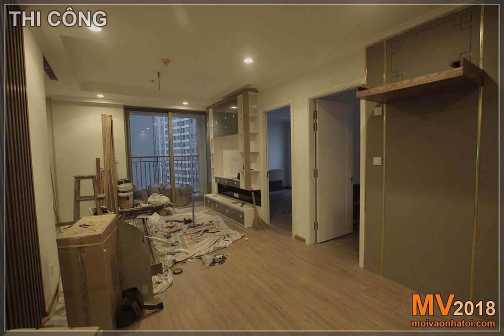 Pemasangan furnitur interior untuk apartemen Times City Park Hill