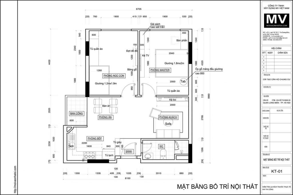 Overall layout of Dang Xa Apartment Building