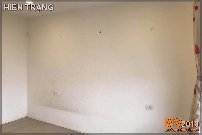 غرفة نوم الفتاة قبل تجديد منطقة دانغ زا الحضرية