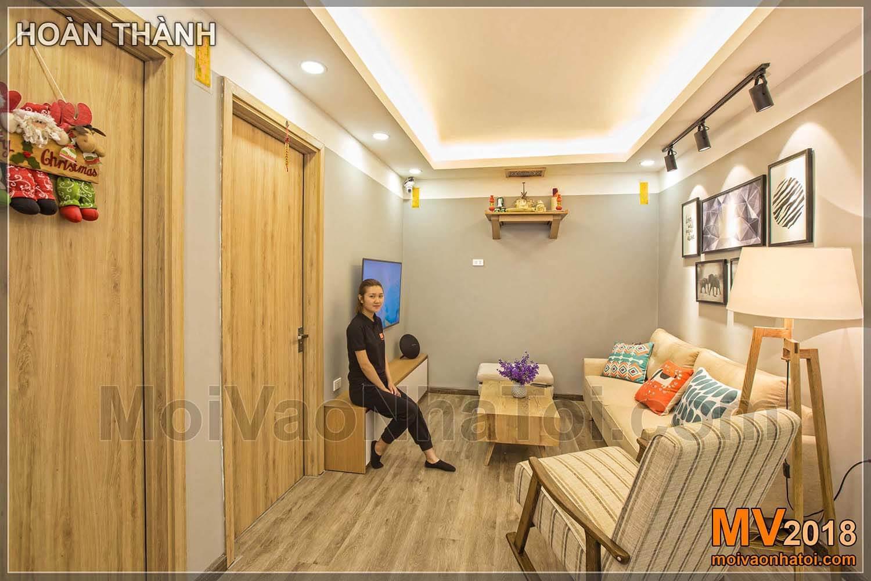 リビングルームスペースの改修Dang Xa Apartment
