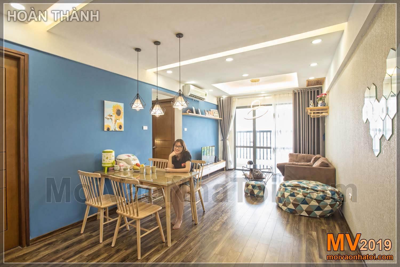 Design de interiores do apartamento Linh Dam 80m2
