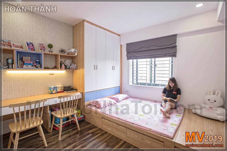 Innenarchitektur Schlafzimmer Wohnung 80m2