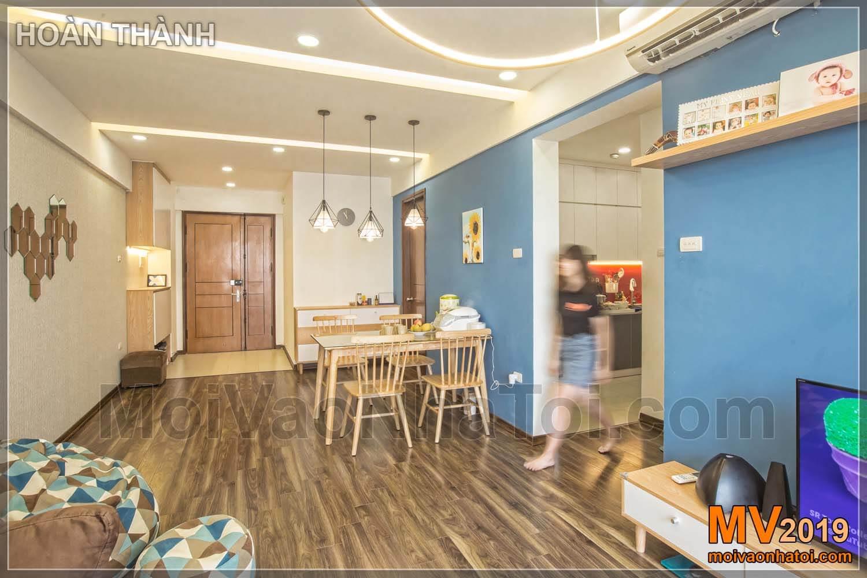 Design Wohnzimmer Wohnung 80m2
