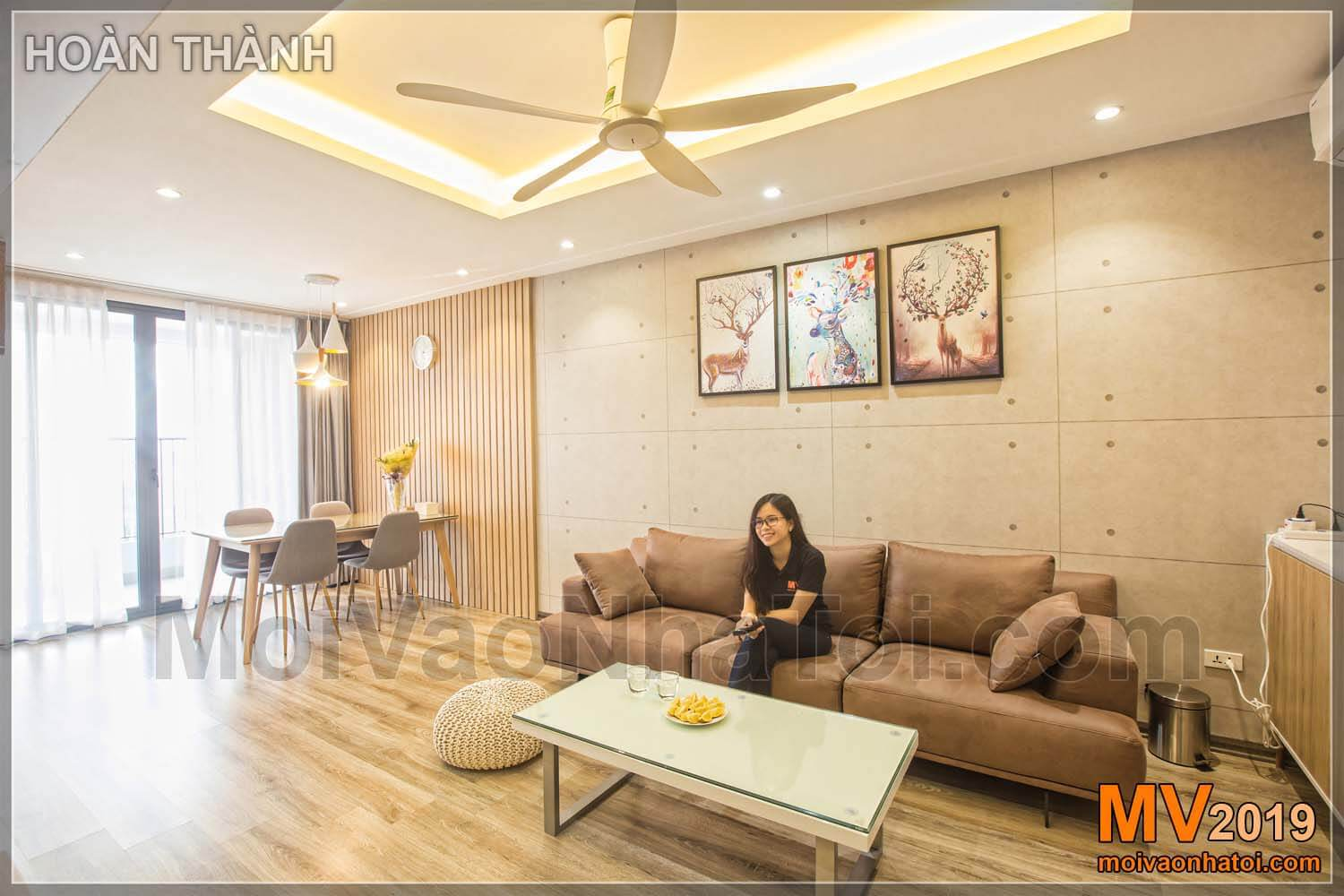 Interior design and construction of Northern Diamond Long Bien apartment building