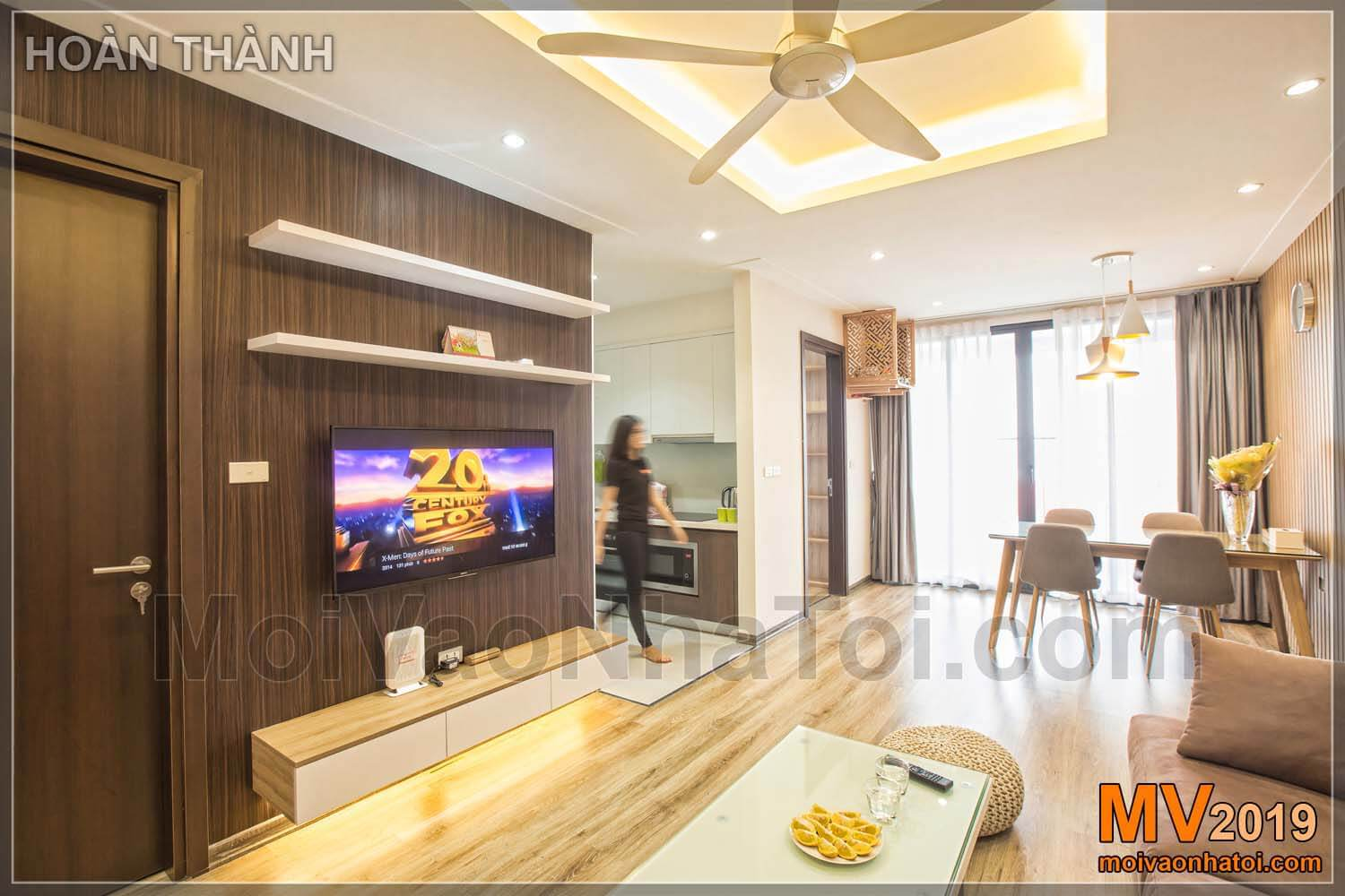 Interior construction design of Northern Diamond Long Bien apartment apartment 110m2