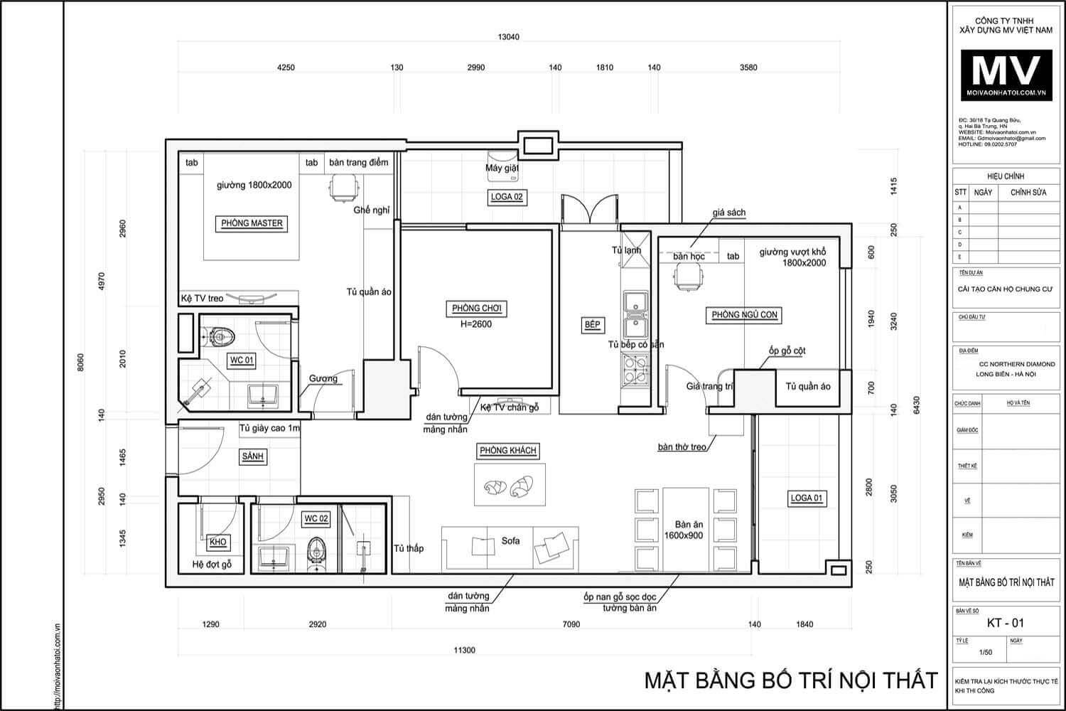 The design ground of Northern Diamond Long Bien apartment apartment 110m2