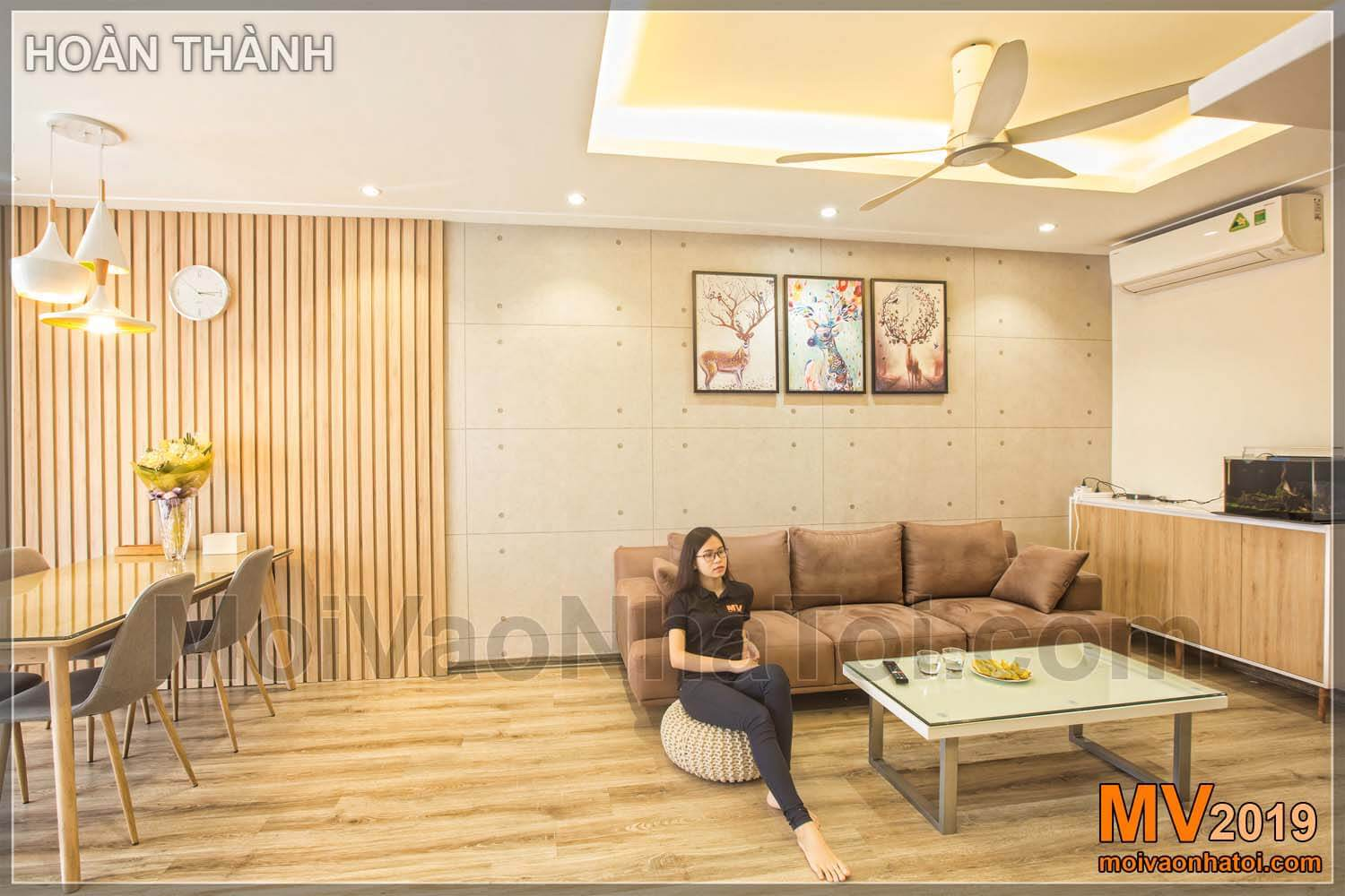 Interior design and construction of Northern Diamond Long Bien apartment building 110m2