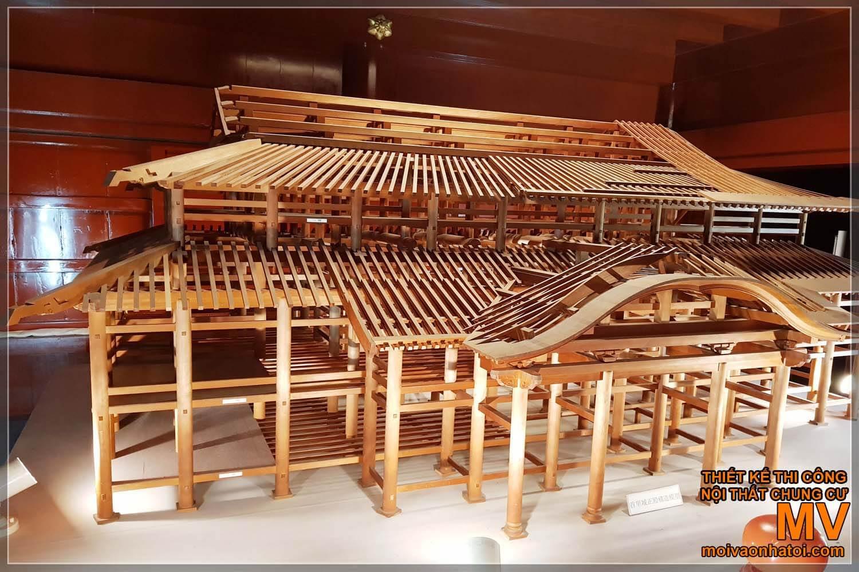 Mô hình thiết kế lâu đài Nhật Bản
