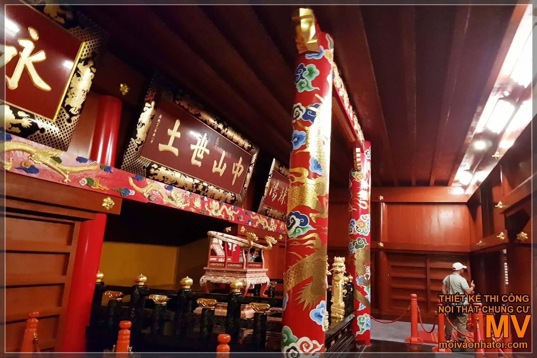 Kiến trúc bên trong lâu đài Nhật Bản