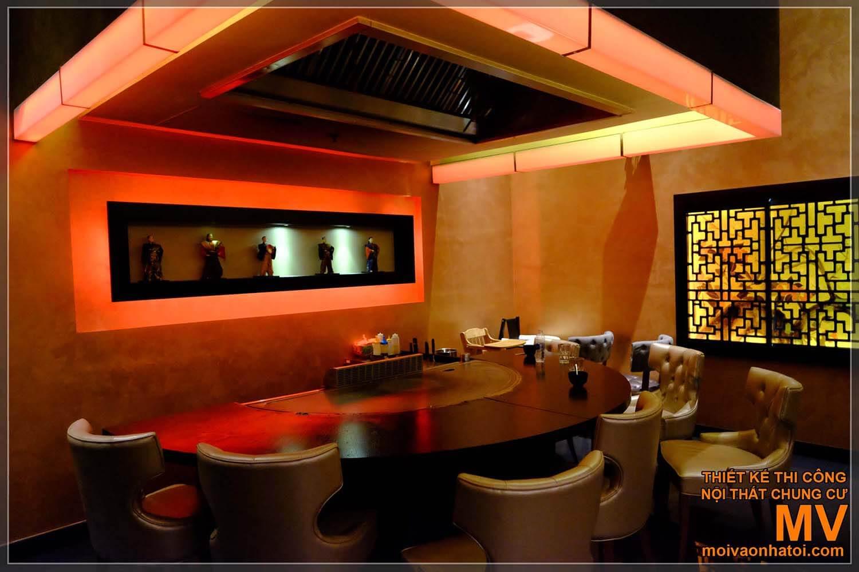 Kiến trúc nội thất nhà hàng Nhật