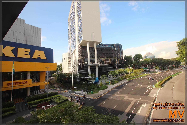 Bên ngoài thiết kế siêu thị nội thất Ikea