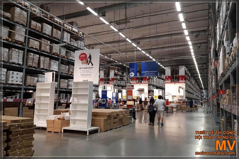 Thiết kế bên trong siêu thị nội thất Ikea