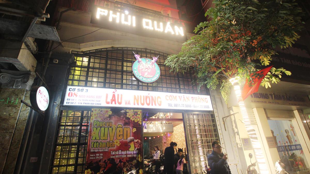 Image result for Nhà hàng Phủi Quán
