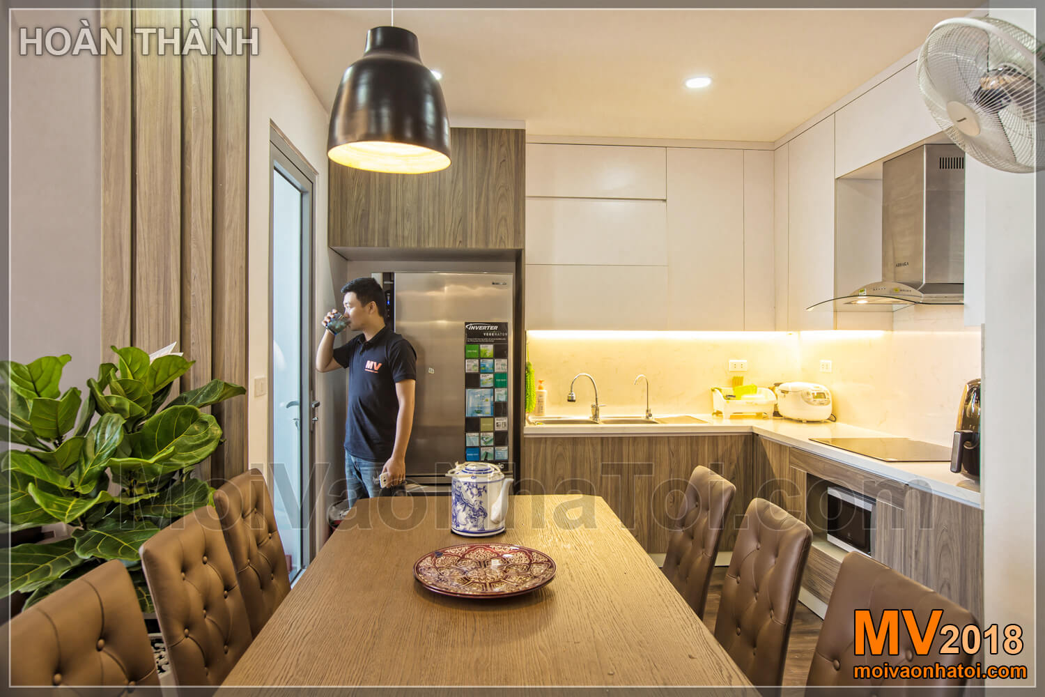 kitchen after construction of Vinhomes Gardenia apartment