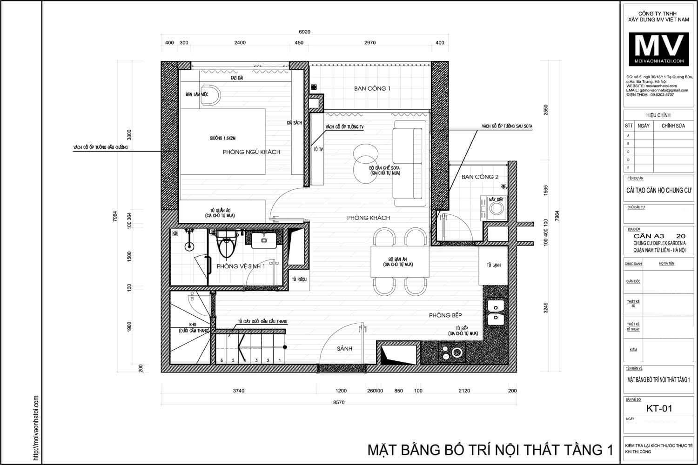 Master plan of Vinhomes Gardenia apartment