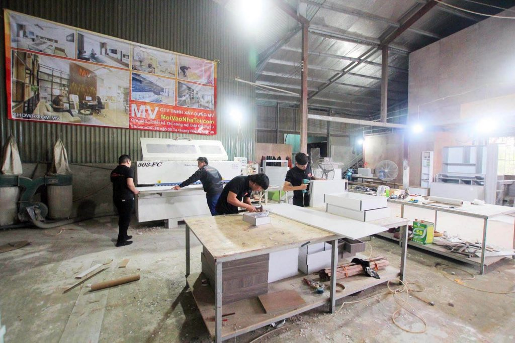Wooden furniture factory