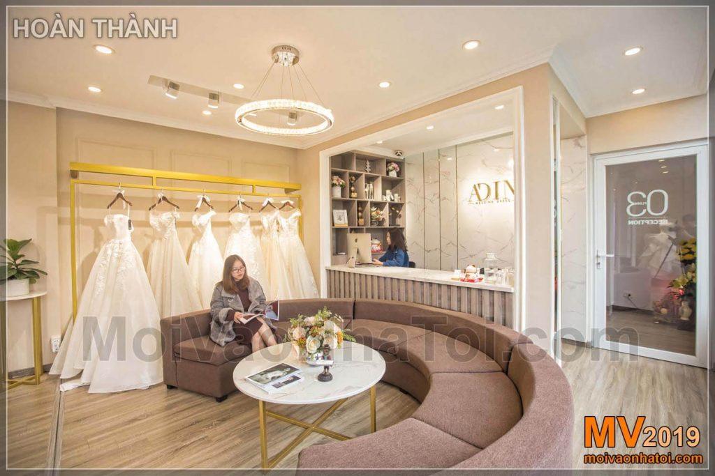 Progettazione e costruzione di showroom per matrimoni
