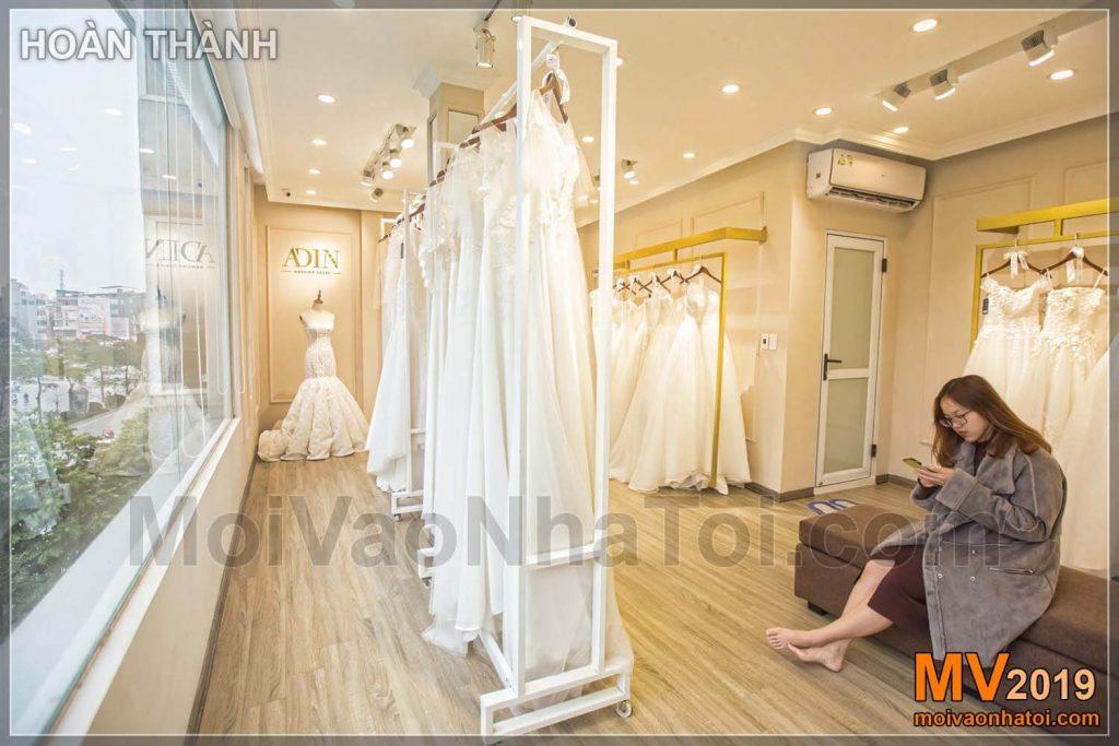 Design dello showroom di abiti da sposa