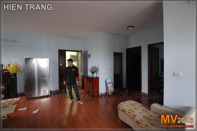 hiện trạng cũ phòng khách chung cư Việt Hưng