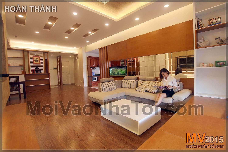 Dokončený obývací pokoj Nguyen Duc Canh bytový dům