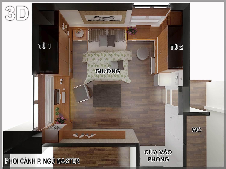 阮德场景3D卧室公寓