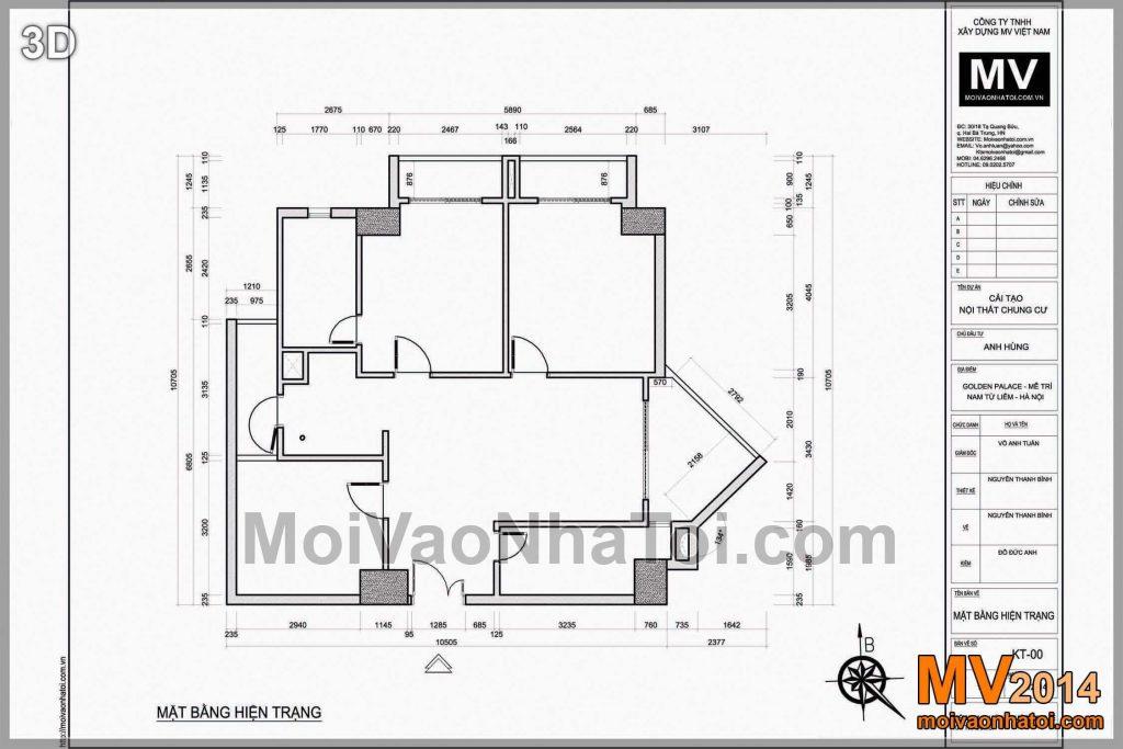NỘI THẤT CHUNG CƯ GOLDEN PALACE 105M2