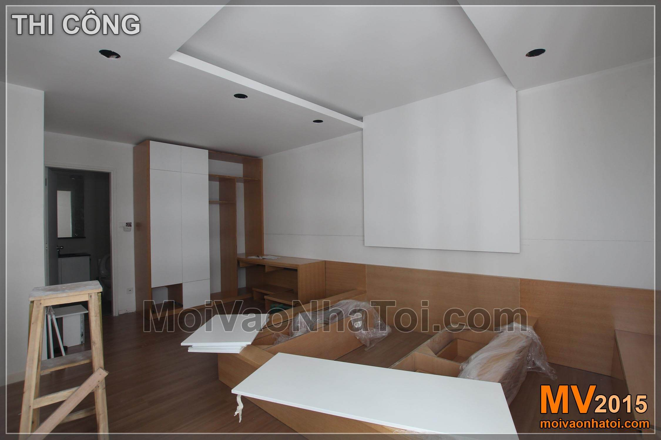mulberry lane apartment bedroom furniture fitting process. 120m2 apartment design
