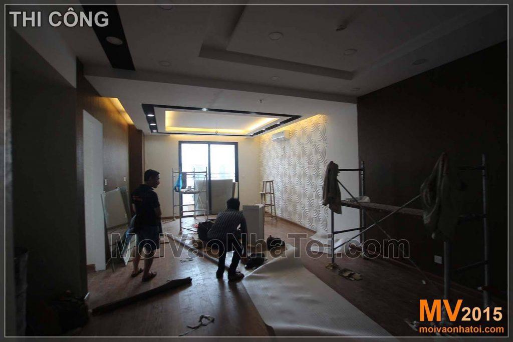 Bauprozess der Wohnung Interieur Times City T8
