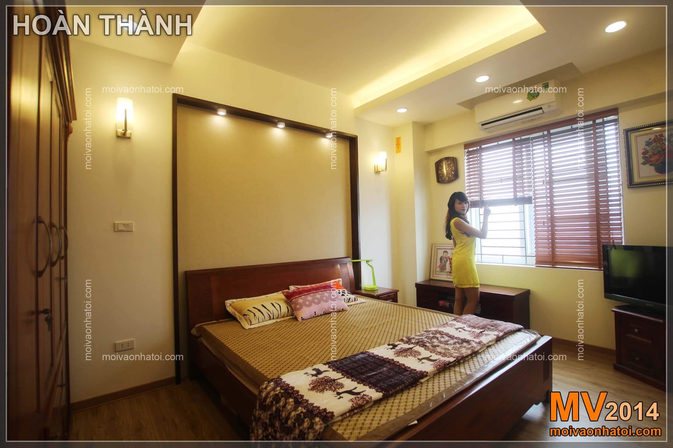 phòng ngủ sau hoàn thiện chung cư việt hưng