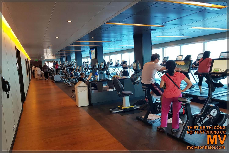 Phòng tập gym của tàu du lịch 5 sao