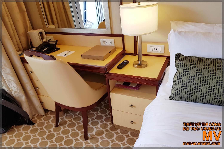 Phòng ngủ sang trọng của du thuyền 5 sao