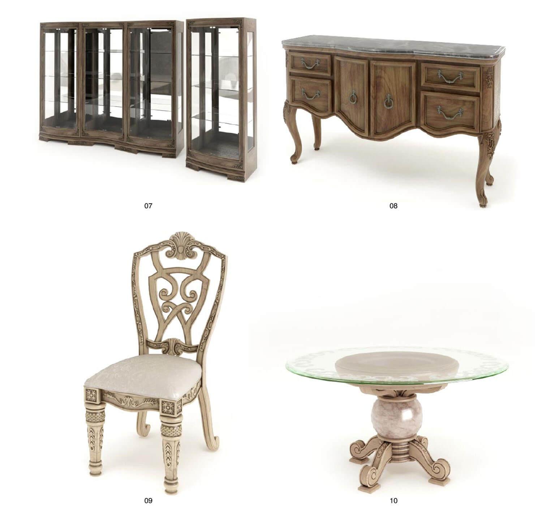 bộ bàn ghế tủ gỗ cổ điển