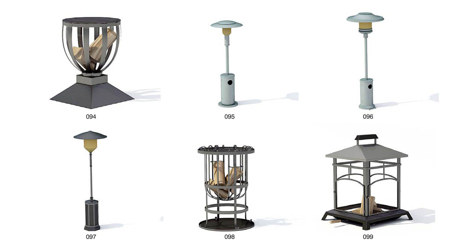 heater. Outdoor furniture
