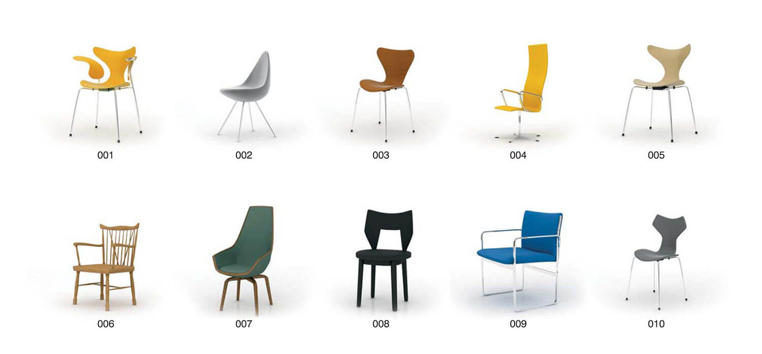 Single sample chair for office furniture