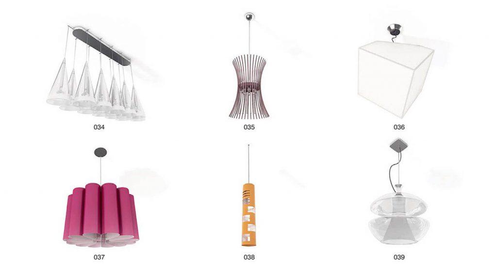 Beispiel Kristallleuchter, dekorative Lichter