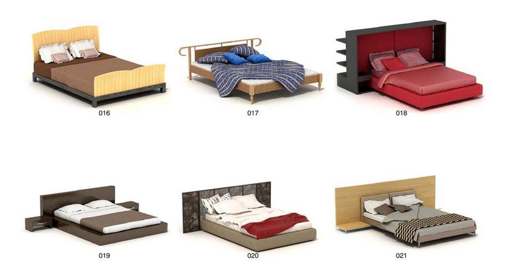 ベッドの睡眠、シンプル、モダンなデザインパート3