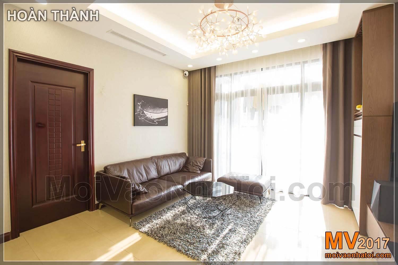 thiết kế phòng khách với ánh sáng tự nhiên
