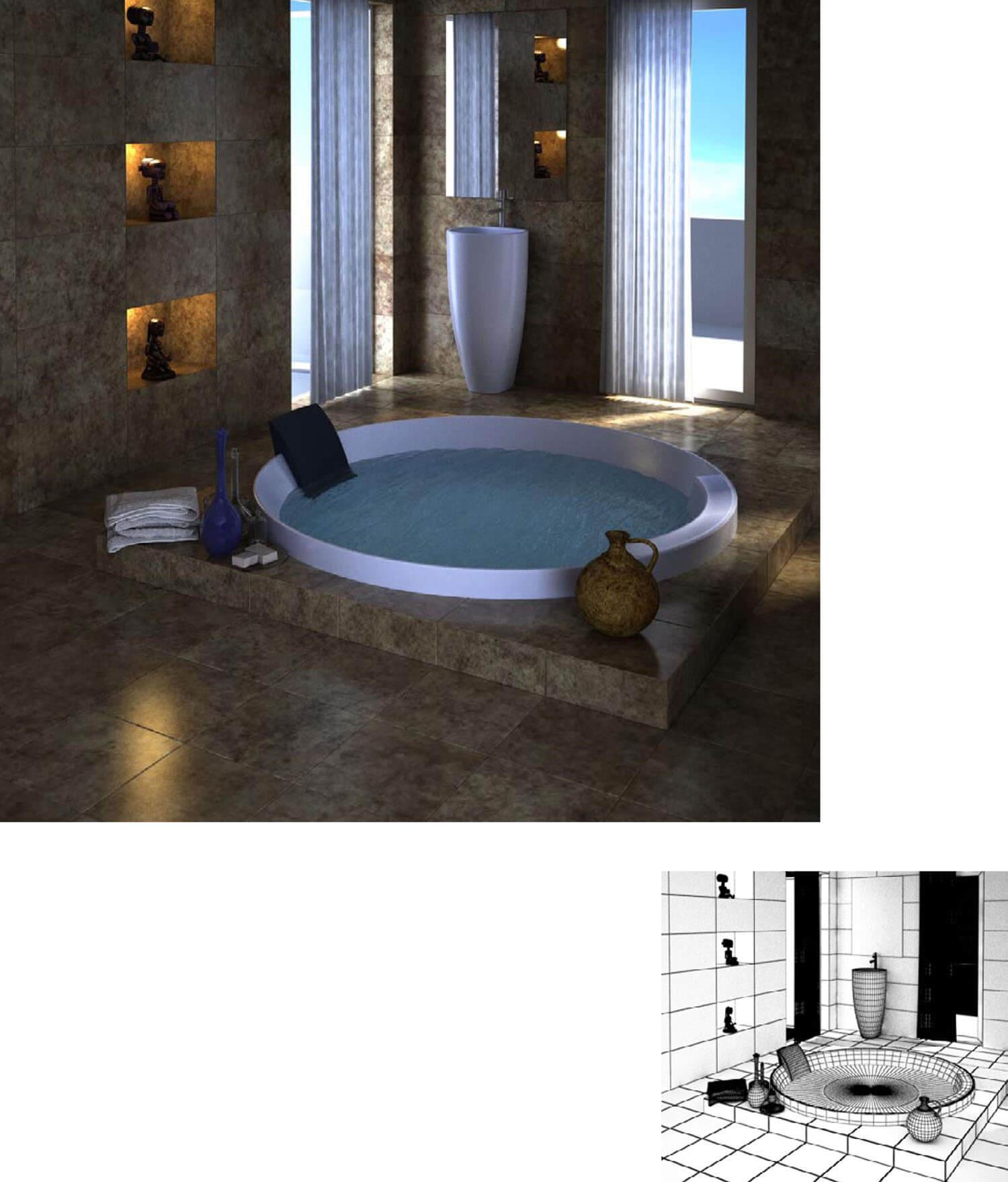 7个美丽的设计浴室样品获得自然采光