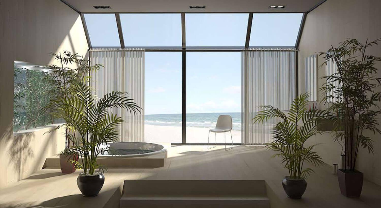 室内,美丽,独特的浴室设计
