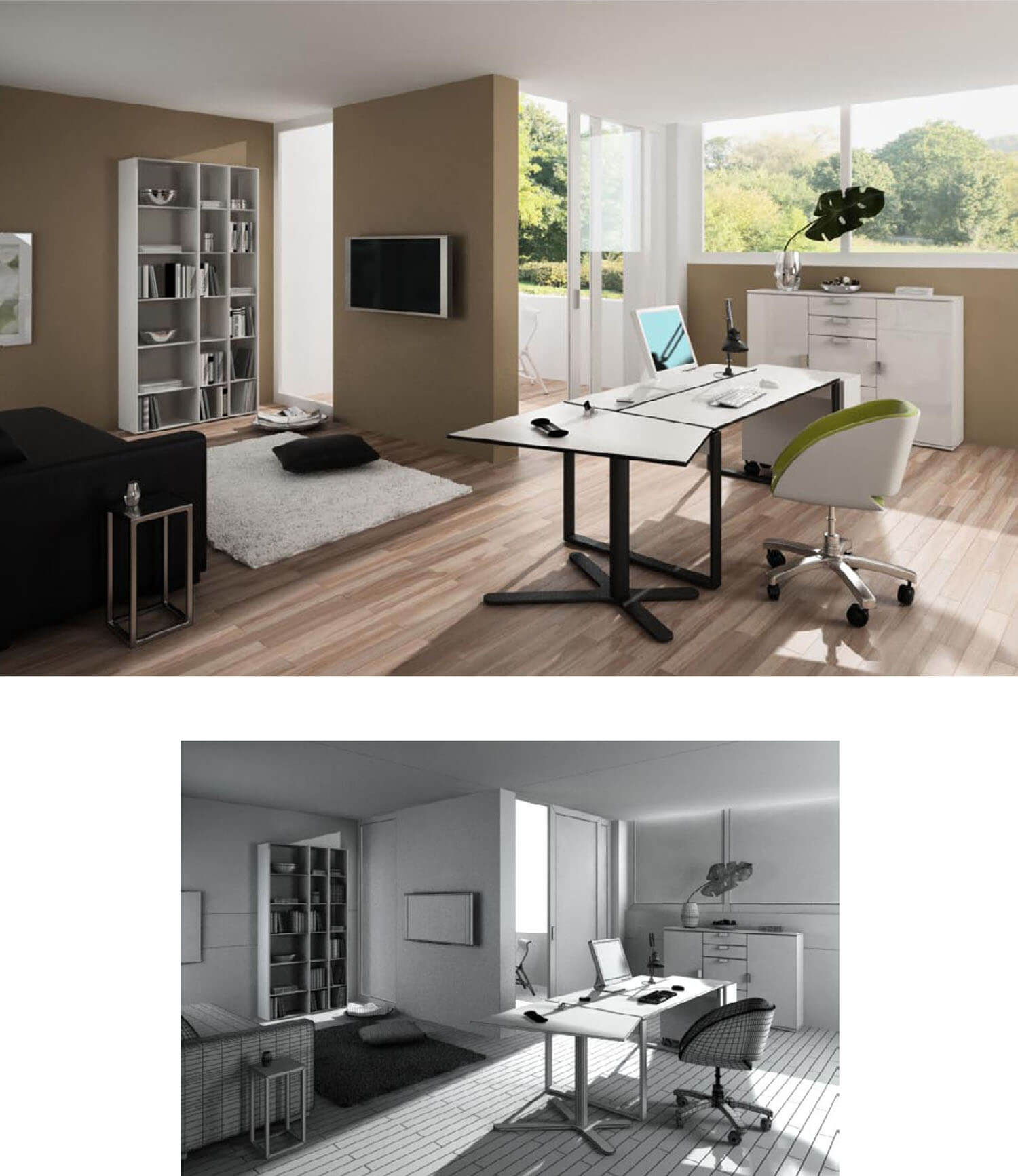MODEL OFFICE FORM SMALL WORK MODERN MODERN