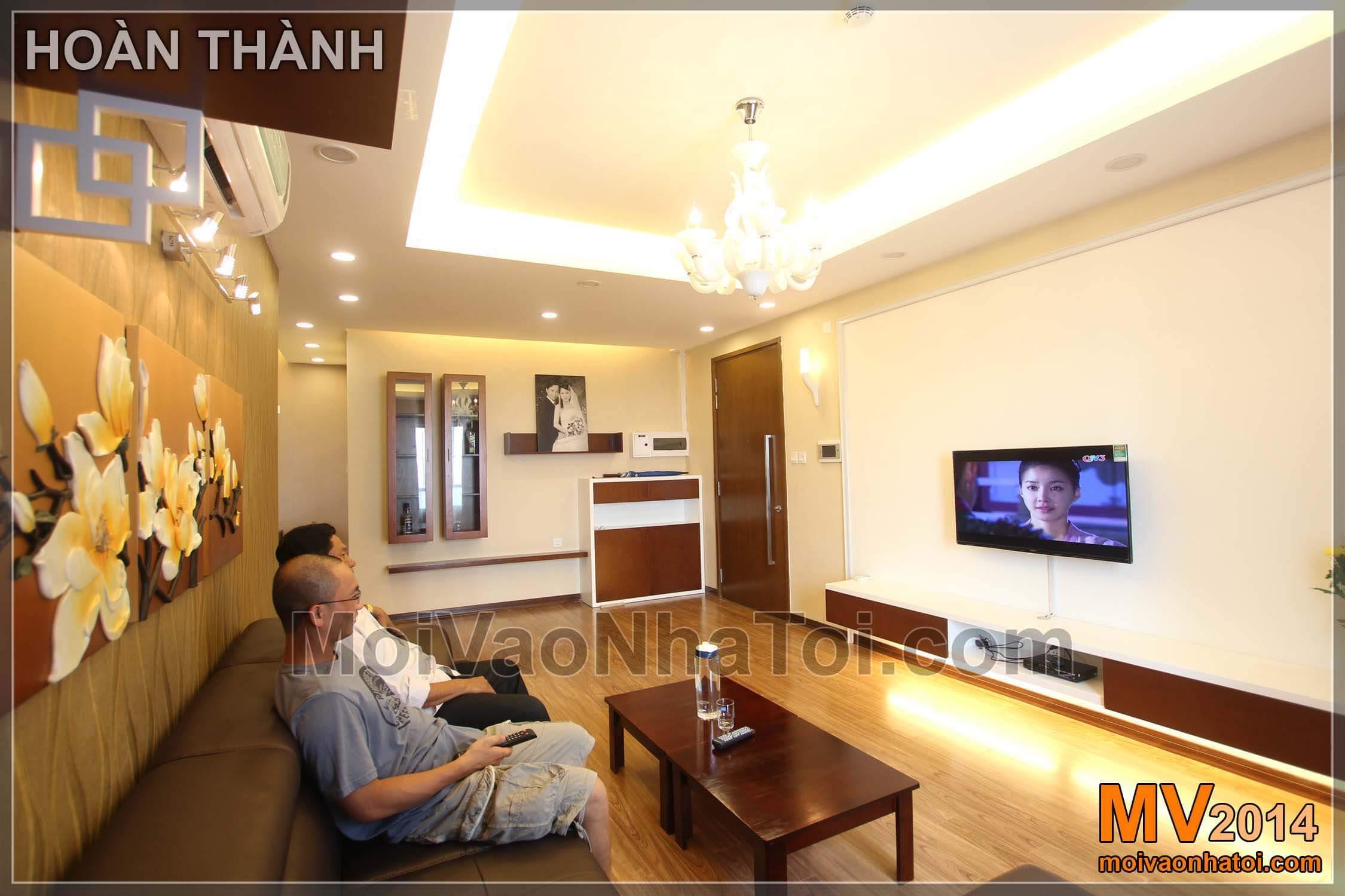 Jednoduchý luxusní byt mulberrylane obývacího pokoje