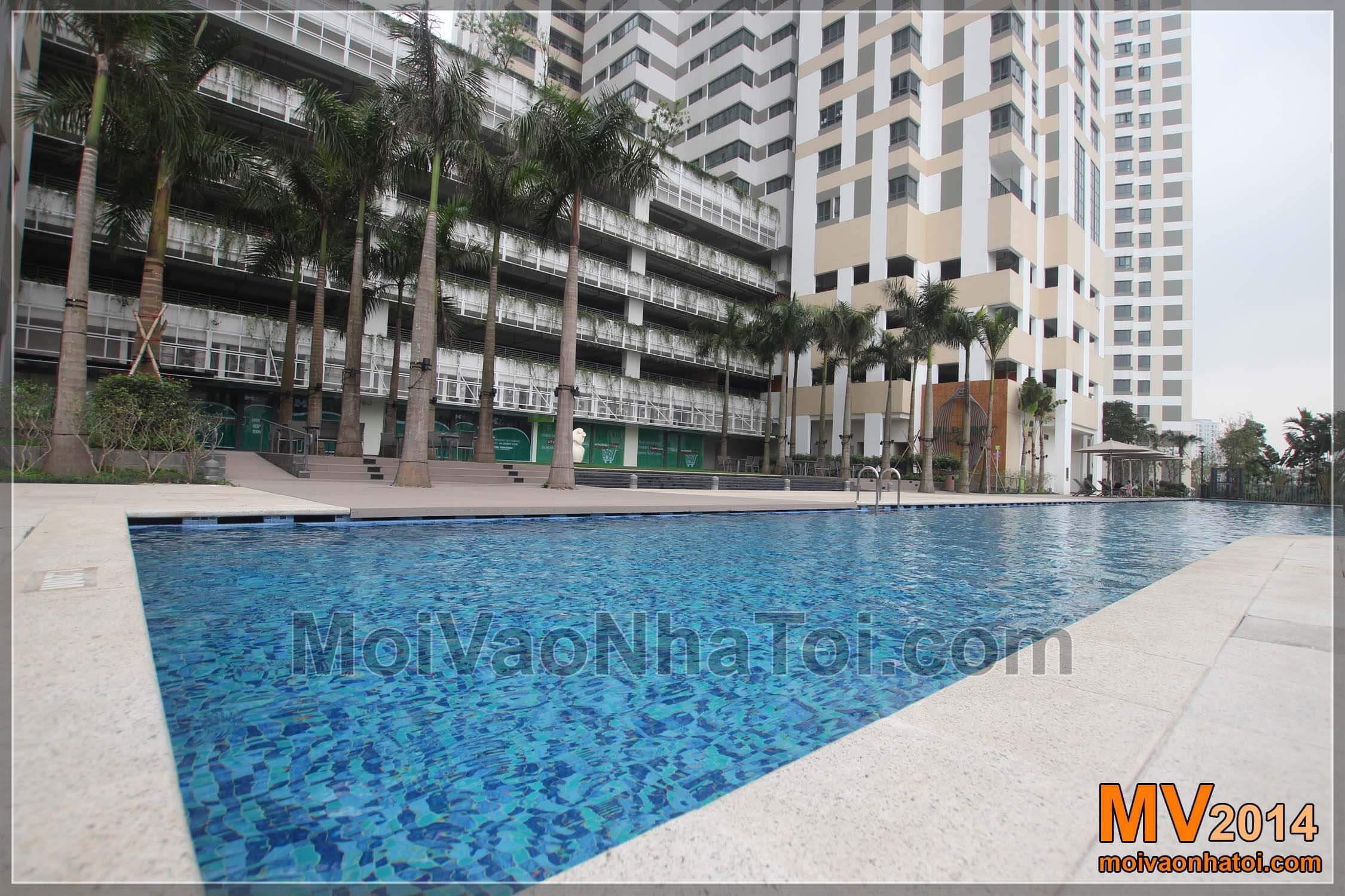 bể bơi khu chung chung cư mulberrylane.thiết kế thi công chung cư mulberry lane