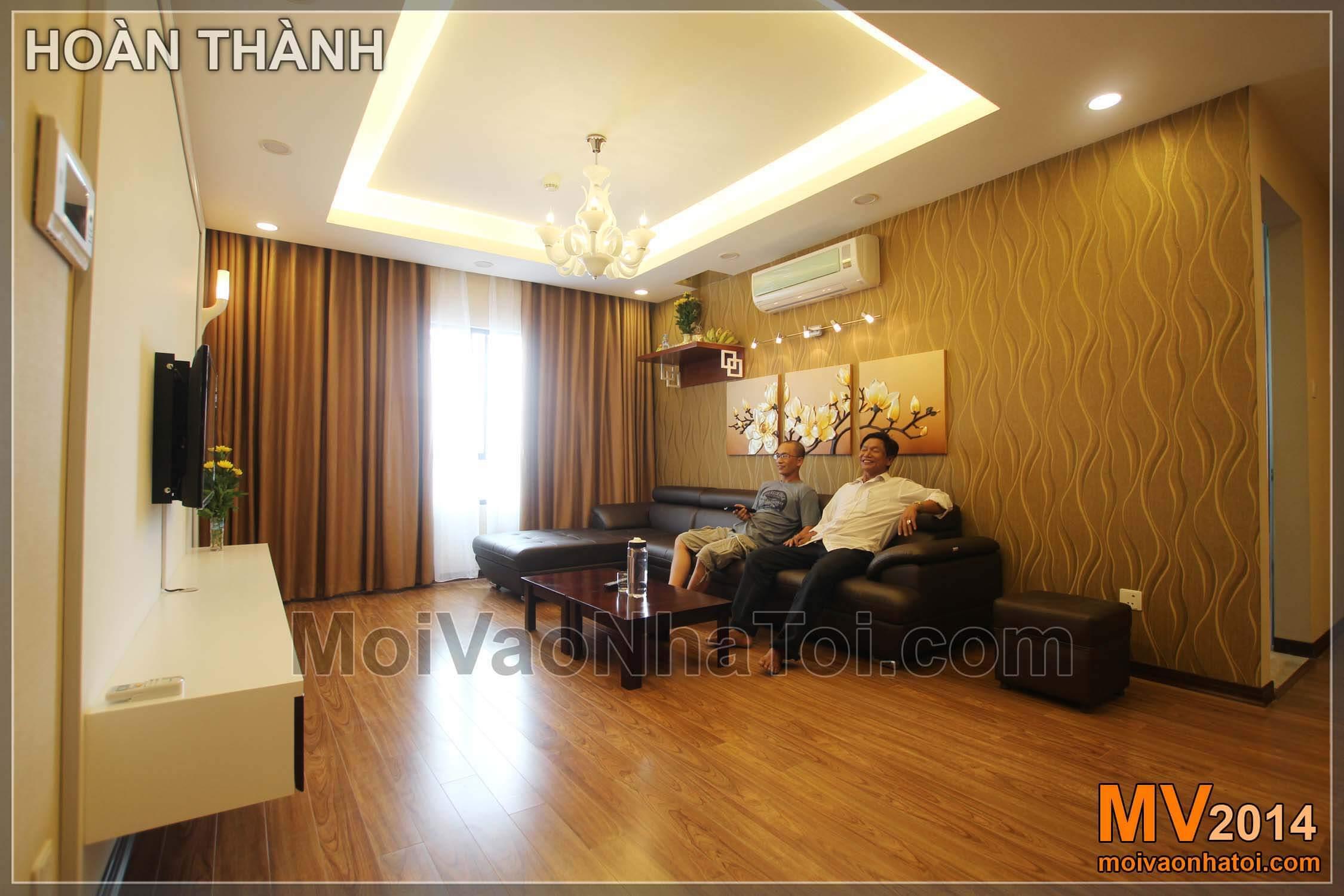 obývací pokoj po dokončení bytového domu moruše pruhu