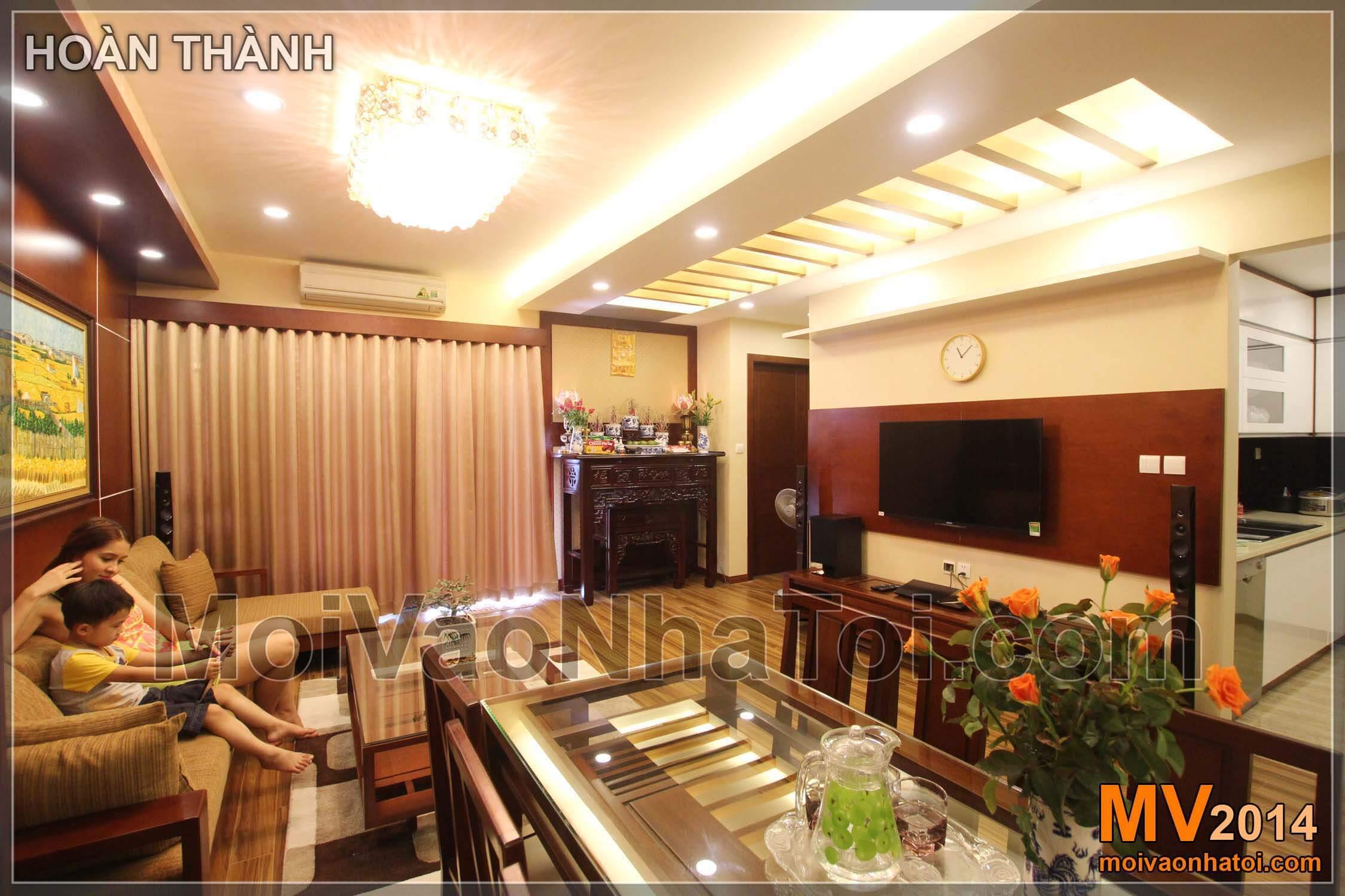 phòng khách hoàn thiện chung cư star city