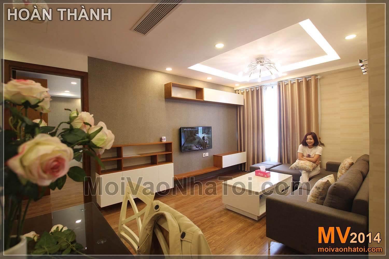 phòng khách hoàn thiện chung cư starcity. thi công chung cư star city