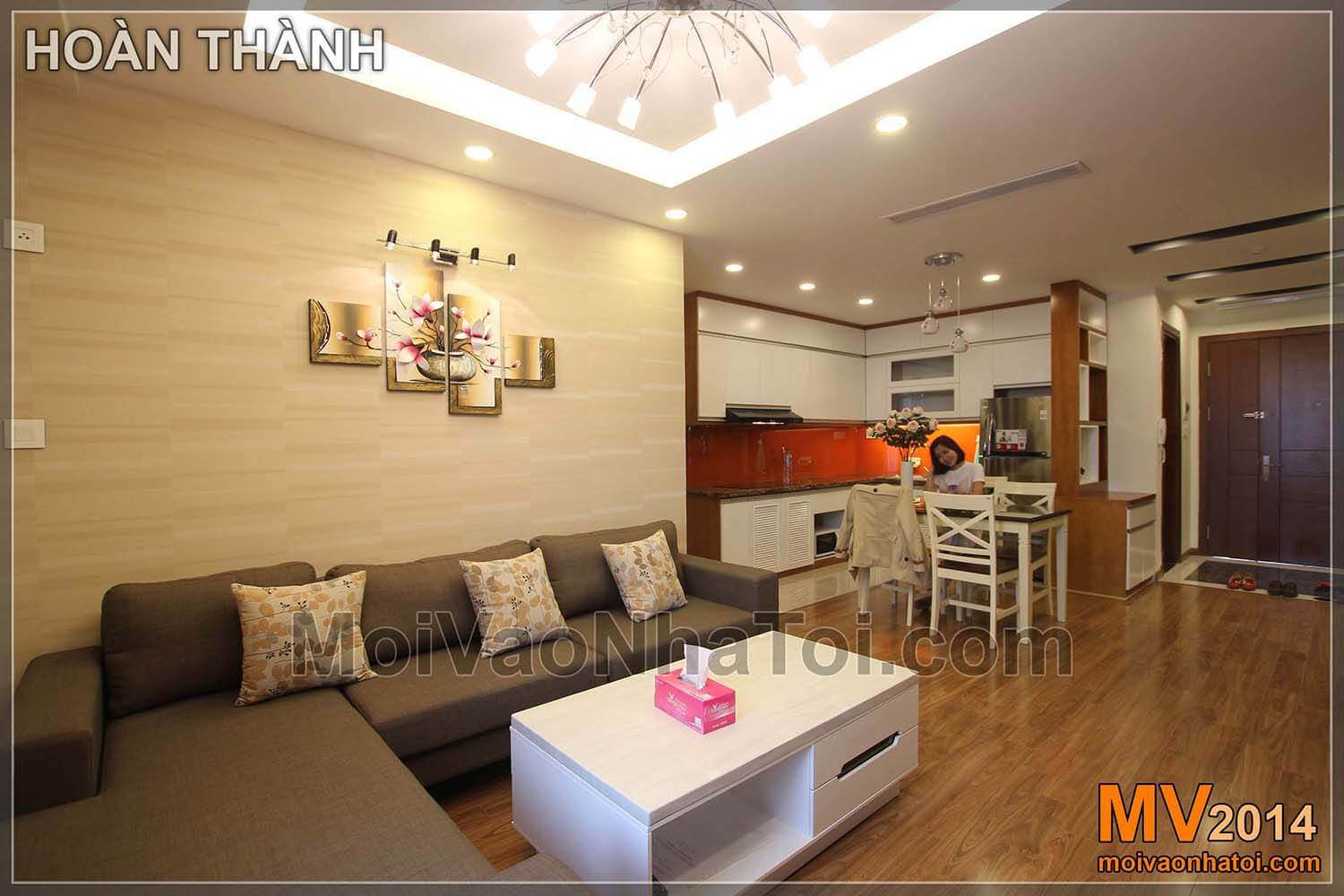 The living room is extended to starcity apartment kitchen. star city apartment construction