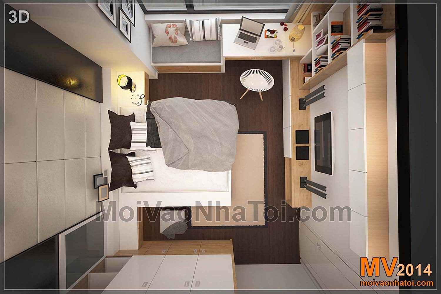 3D bedroom with starcity apartment