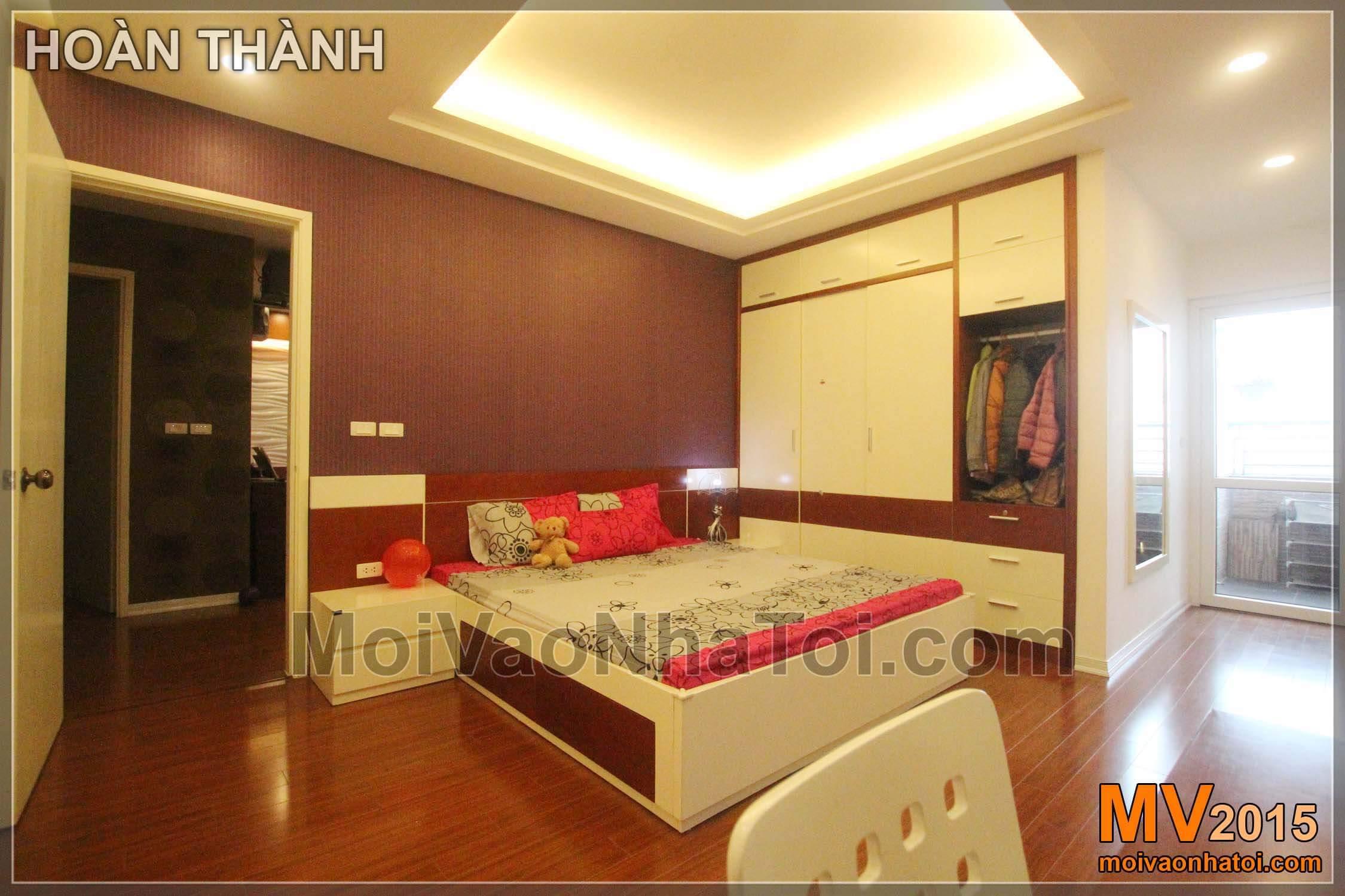 nội thất phòng ngủ đơn giản sang trọng chung cư nam đô complex CT1A