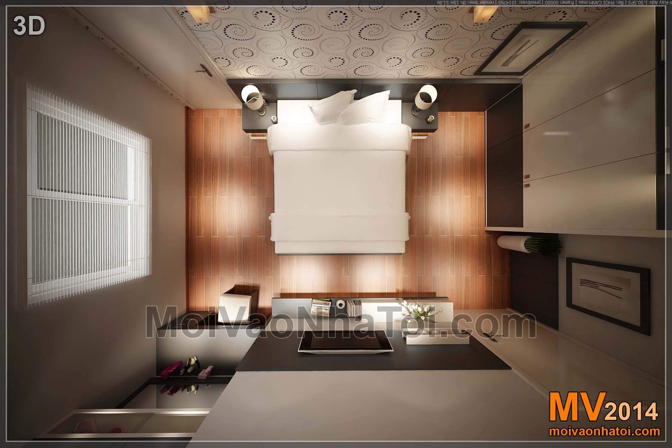 3d phòng ngủ Master chung cư nam đô