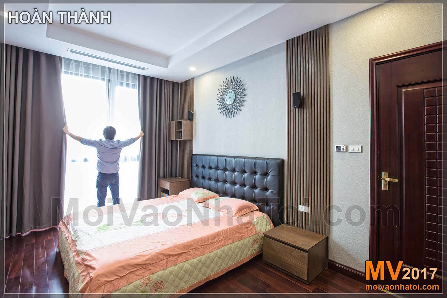 Design master bedroom apartment Royal City 100m2